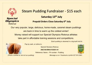 Steam Pudding Fundraiser